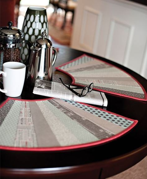 how to make wedge placemats for round table