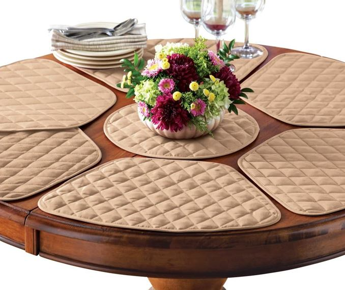 How To Set A Round Table With Placemats, Table Placemats For Round Tables