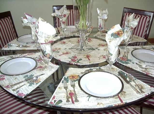 wedge placemats for round table pattern