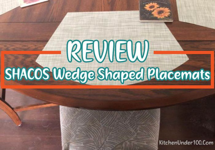 SHACOS Wedge Shaped Placemats for Round Table