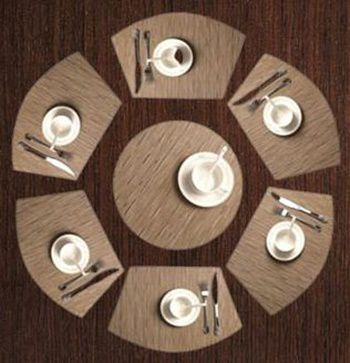 Shacos Wedge Shape Placemats