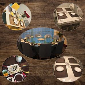 setting placemats on table