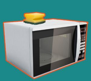 Ease of Cleaning Microwave Oven