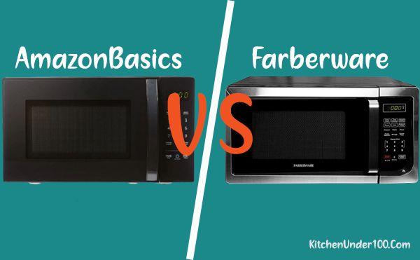 Comparison of AmazonBasics with Farberware Microwave