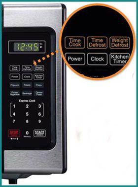 Farberware Classic 900 Watts Microwave Control Panel
