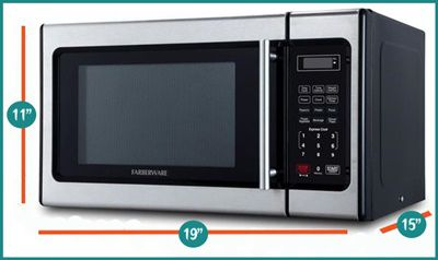 Farberware Classic Stainless Stell Microwave External Dimensions